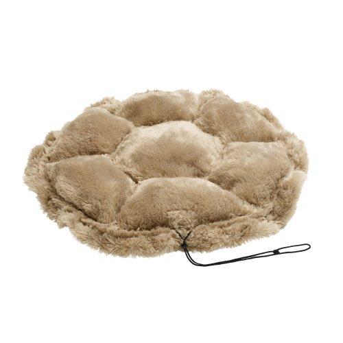 HUNTER TILBURG Hundebett, Hundedecke, variabel, Plüschbesatz, mit Kordel, beige