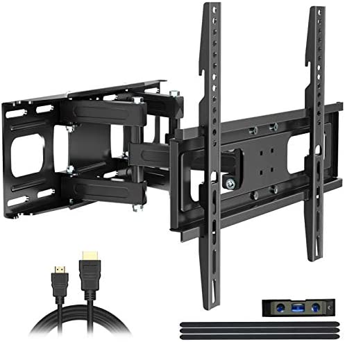 Full Motion TV Wall Mount with Height Setting JUSTSTONE TV Bracket Fits Most 27 65 Inch LED product image