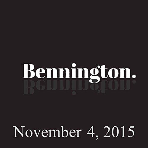 Bennington, November 4, 2015 audiobook cover art