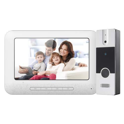 NIVIAN Kit de Videoportero - Tecnología analógica - Incluye Placa y Monitor - Conexión por 4 Hilos - Instalación Plug and Play - Montaje en Superficie
