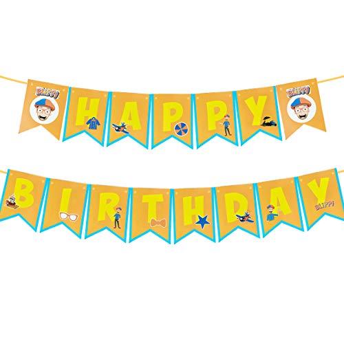 Blippi birthday banner