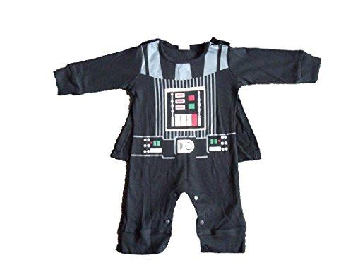Tenue pour bébé inspirée de Darth Vader - Noir - 12-18 Mois