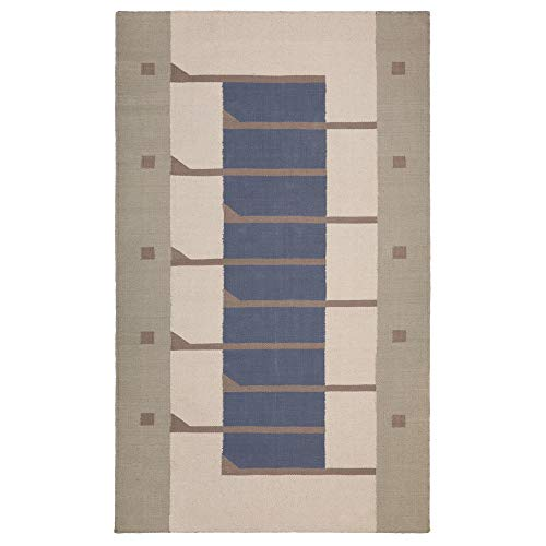 Classic Rug Collection Flat Weave Hand Woven Cotton Area Rug | Frank Lloyd Wright Inspired and Authorized Collection for Living Room, Bedroom, Dining Room, Kitchen, Foyer | Pettit – 3' x 5'