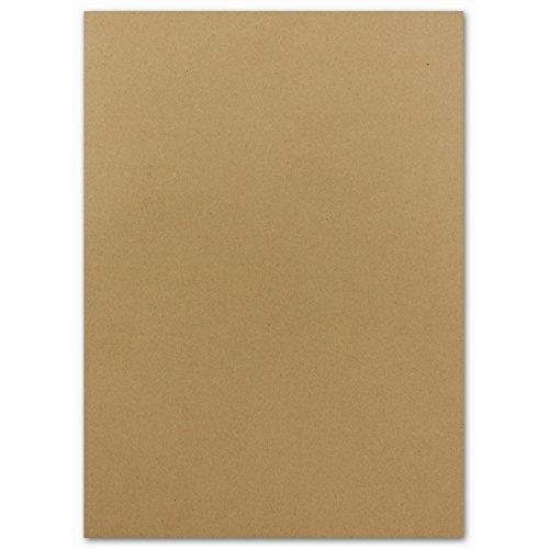 100x DIN A4 Papier Planobogen -Sandfarben/Natur-Braun - 110 g/m² - 21 x 29,7 cm - Ton-Papier Fotokarton Bastel-Papier Ton-Karton - FarbenFroh®