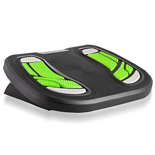 Halter F8016 Premium Ergonomic Adjustable Angle Foot Rest - 17.7' X 13' - Black/Neon Green
