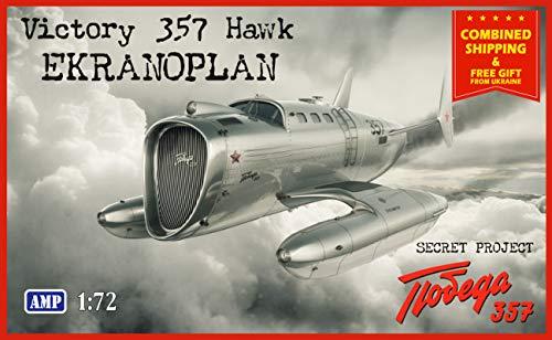 AMP 72-010 - 1/72 - Victory 357 Hawk. Prototype Aircraft Scale Plastic Model 2