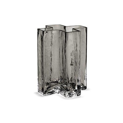 Holmegaard Crosss-vaas, glas, 9,6 x 9,6 x 12