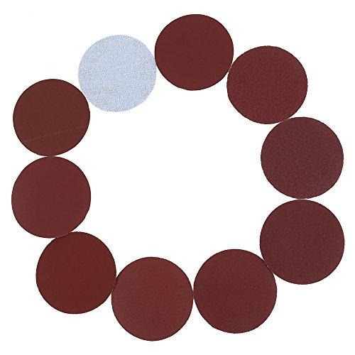100PCS Discos de Lijado Papel de Lijado 75mm/3 pulgadas Redonda Rojo Discos de Lija para Taladro para Lijadora 80/100/180/240/600/800/1000/2000/3000