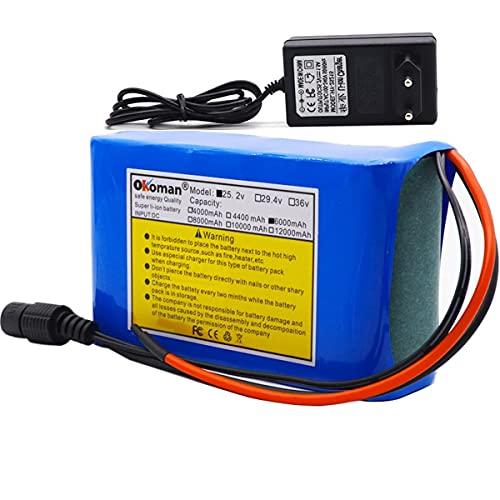 HJGHY 6s2p 24V 6Ah 18650 batería batería de Litio 25,2 v 6000mAh Bicicleta eléctrica ciclomotor/eléctrica/batería de Iones de Litio con Cargador