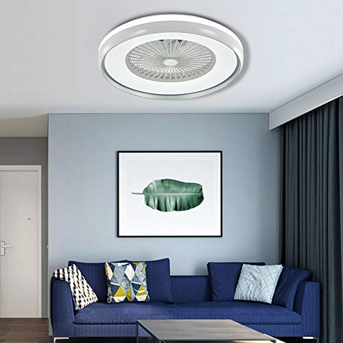 23.5-Inch Modern Fan Chandelier LED 3 Colors 3 Speed with...