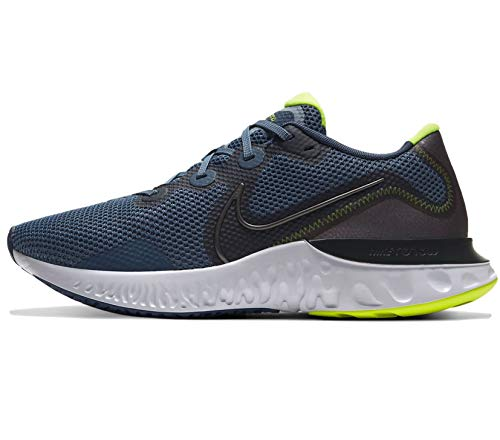 Nike Mens Renew Run Knit Track Running Shoes Blue 10 Medium (D)