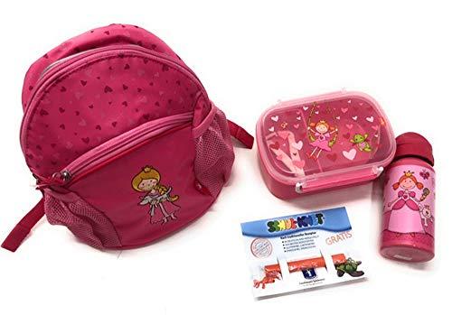 Steinnacher Sigikid Rucksack, Lunchbox und Trinkflasche Pinky Queeny + Knete