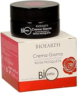 BIOEARTH - Day cream with raw rose hip oil - Moisturizing and protective - Resitutive and emollient - Vegan - ICEA certified - 50 ml