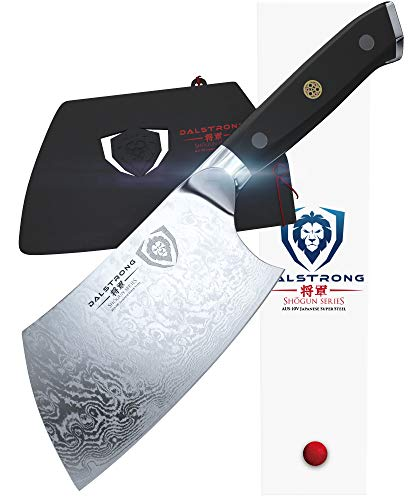 DALSTRONG Cleaver - Shogun Series X - Damascus - Japanese AUS-10V Super Steel - Vacuum Treated - 7'...