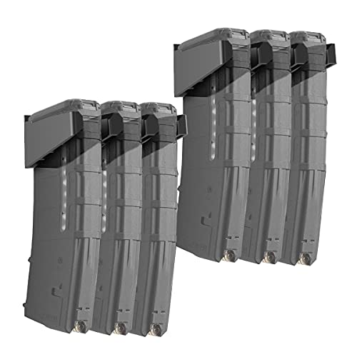 DD Solid 6X Standard PMAG Wall Mount,ABS Mag Holder,Wall Magazine Display, Home Magazine Storage Rack(Black)
