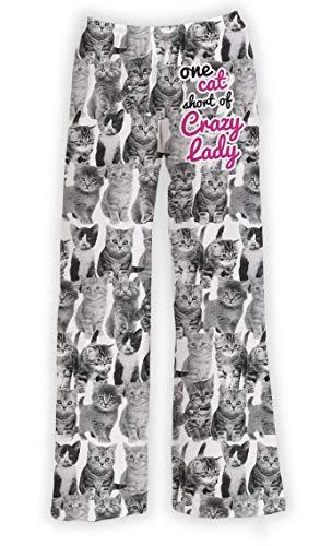 Lounge Pajamas Pants for Women - Cute Cat Pants Graphic Print Bottoms - Funny, Humorous, Novelty Loungewear Pants
