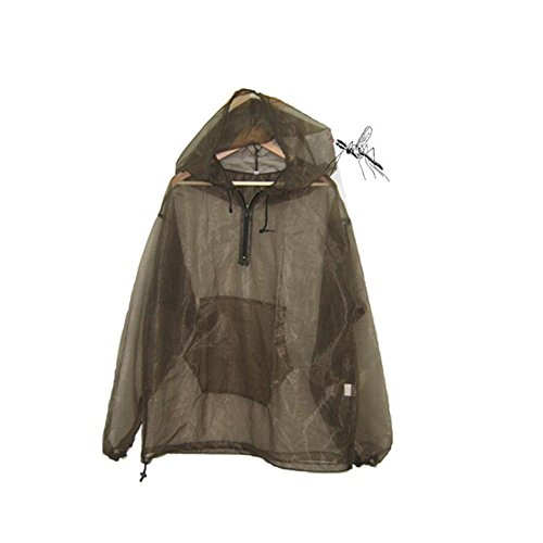 Aventik Mosquito Jacket No-See-Um Mesh, Super Light, One Size for All, Full Face Hood, Keep Safe Cool, UV Protection