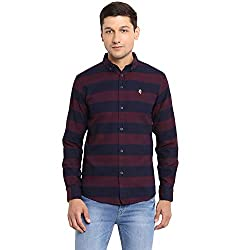Red Tape Mens Striped Regular Fit Casual Shirt