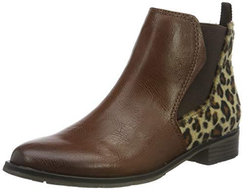 MARCO TOZZI Damen 2-2-25039-33 Chelsea Boots, Braun (Chestnut/Leo 308), 39 EU