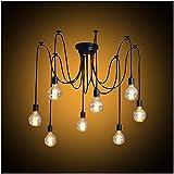 Modrad Kronleuchter Spinne Lampe Vintage Retro Hängend Lampen Industrial Pendelleuchte für Küche...
