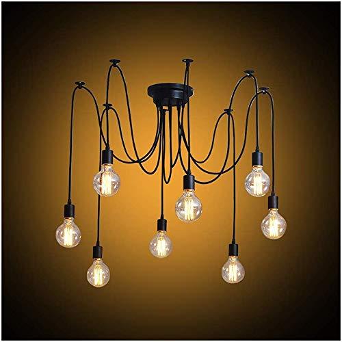 Modrad Kronleuchter Spinne Lampe Vintage Retro Hängend Lampen Industrial Pendelleuchte für Küche Schlafzimmer und Hotel Dekoration (5 Köpfe)