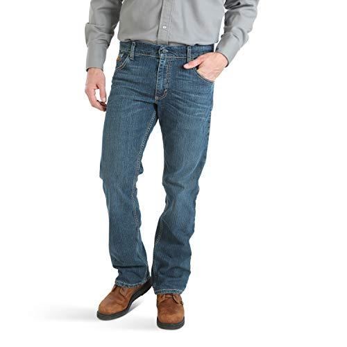 Wrangler Riggs Workwear Men's FR Flame Resistant Retro Advanced Comfort Slim Fit Boot Cut, Timothy, 33W X 32L Georgia