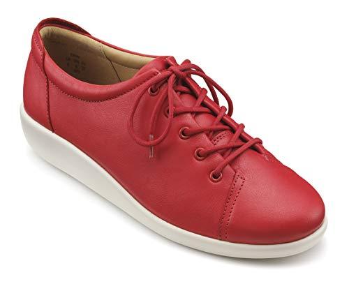 Hotter Dew - Zapatos con cordones extra anchos para mujer, color Naranja, talla 35 EU