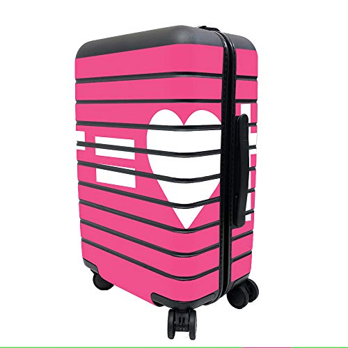 MightySkins Skin Compatible with Away The Carry-On Suitcase - Cross Equals Love Pink | Protective, Durable, and Unique Vinyl Decal wrap Cover | Easy to Apply, Remove | Made in The USA
