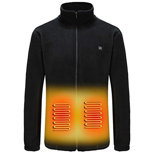 ODRD Beheizte Weste, Waschbar Heizweste für Körperwärmer in Kalten Winter, Beheizbare Jacke für Herren Damen, Heizweste USB, Arbeitsjacke Männer mit 3 Fakultativ Temperatur Vest (G-Jacke(BK), XL)