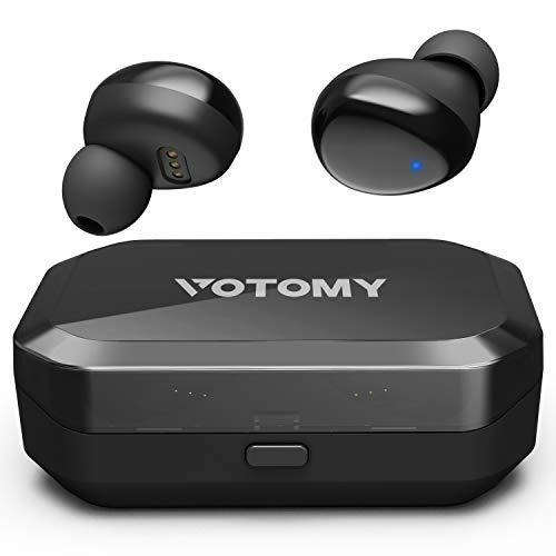 Bluetooth Kopfhörer In Ear, VOTOMY Bluetooth 5.0 Kopfhörer mit 200H Zyklus Spielzeit 5D TWS Stereo, Mono/Share-Modus 3500mAh Ladekoffer, IPX7 mit LED Digitalanzeige für iPhone Android