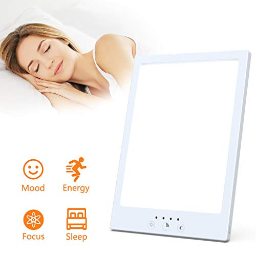 New Led Light Therapy Lamp,UV Free 10,000 Lux Bright White,Timer, Touch Control Function,Standing Br...
