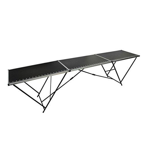 Lingjiushopping Table a tapissier en aluminium et en acier avec Taille pliee- 100 x 60 x 78 cm Taille pliee: 1 x 6 x 78 cm Taille depliee: 3 x 6 x 78 cm