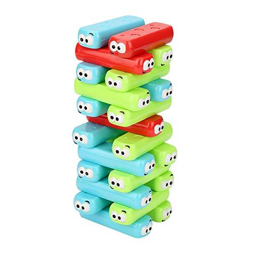 Garosa Juegos de Tablero Apilables de Colores Juegos de Mesa de Dibujos Animados Juegos de Juguetes de Plástico para Niños de 3 Años de Edad para Adultos 30 Piezas