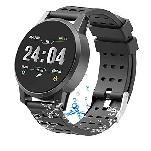 Smartwatch, Fitness Tracker Met Blood Oxygen Monitor (Spo2) / Bloeddrukmeter/Heart Rate Monitor/Pulsoximeter Smart Horloge Fitness Horloge Smartwatch,Black