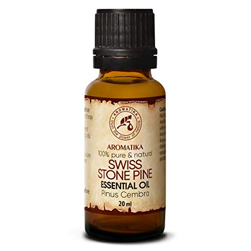 Aceite Esencial de Pino Suizo 20ml - Pinus Cembra - Suiza - 100% Natural & Puro - Mejor para Belleza - Salud - Cabello - Cara - Cuerpo