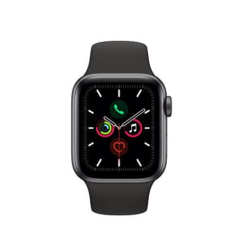 Apple Watch Series 5 (GPS, 40 mm) Aluminio en Gris espacial - Correa Deportiva Negro