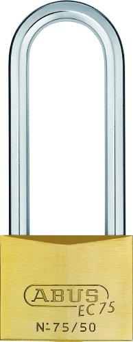 ABUS 268519-75/50HB80_KA7562 Candado Extra-Classe latón con llave de seguridad 50 mm arco extralargo llaves iguales