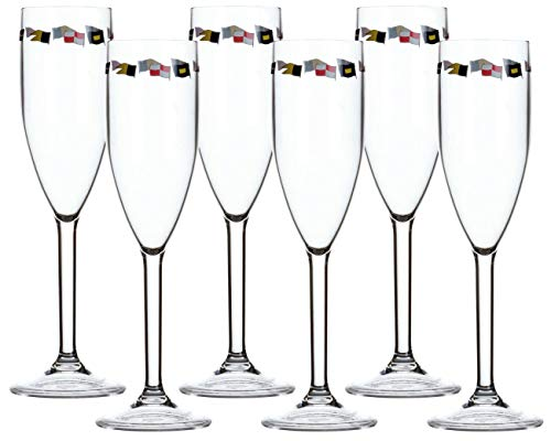 Marine Business Champagnerglas Set 6 Stück unzerbrechlich - Regatta