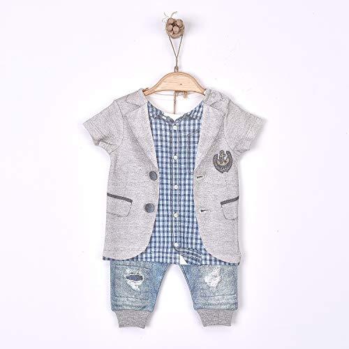 Sevira Kids - Ensemble bébé garçon t-shirt et pantalon en coton bio, Victor