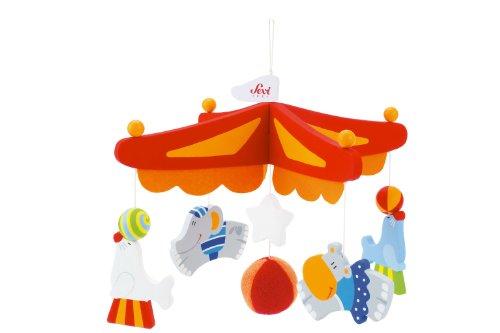 Sevi - Le Cirque, móvil de cruz con animales para bebés (T