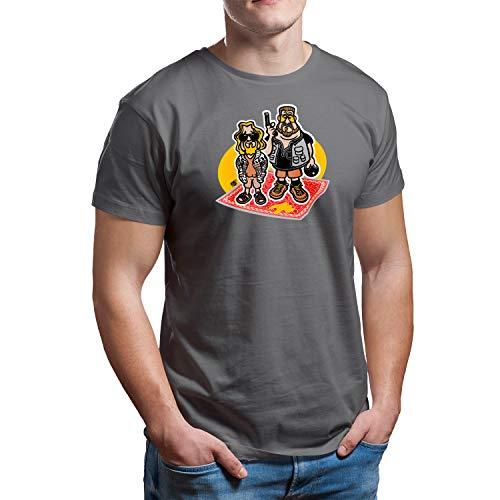 DibuNaif Camiseta El Gran Lebowski (Gris...