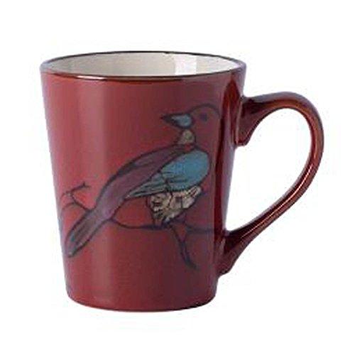 Black Temptation [Vogel] American Style Retro Keramik Tasse Haushalt Tasse Kaffeetasse, rot [S]