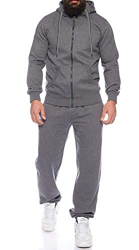COOFANDY Man's Comfy Running Jogging Track Suit Jacket and Pants Warm up Pants Gym Training Wear Grey, XX-Large