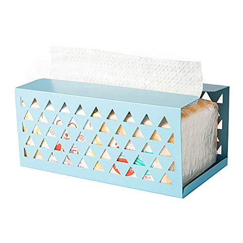 KingbeefLIU Creative Iron Hollow Tissue Box Paper Servilleta Case Holder Home Desktop Decor Fácil De Instalar Ahorre Espacio Limpio Y Hermoso Blanco PequeñoNone