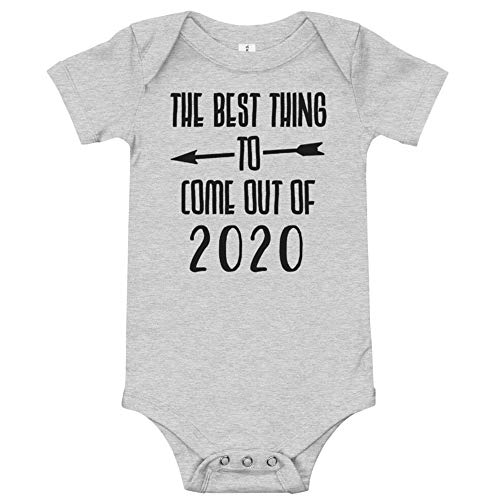 MyCozyCups Best Thing to Come Out of 2020 Funny Baby Boy Girl Infant Bodysuit 0-18months (0-3 Months) Gray, Black