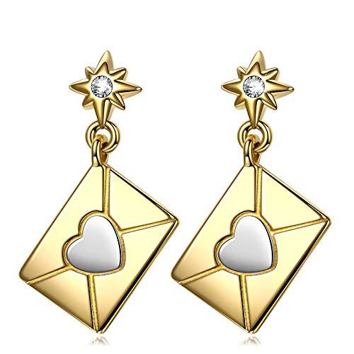 ANNA NUCCI Pendientes para las mujeres 925 regalos de plata esterlina de la Mujer de San Valentín Regalos para ella Regalos Parejas Pendientes