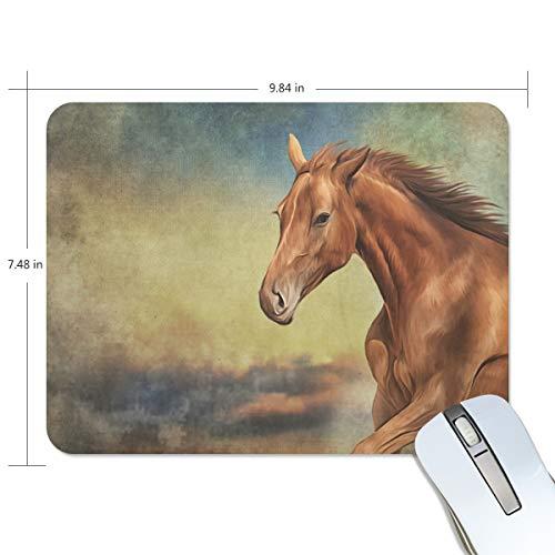 Mouse pad vintage My Daily Horse 25 x 19 x 0,5 cm, base de borracha antiderrapante para jogos e escritório