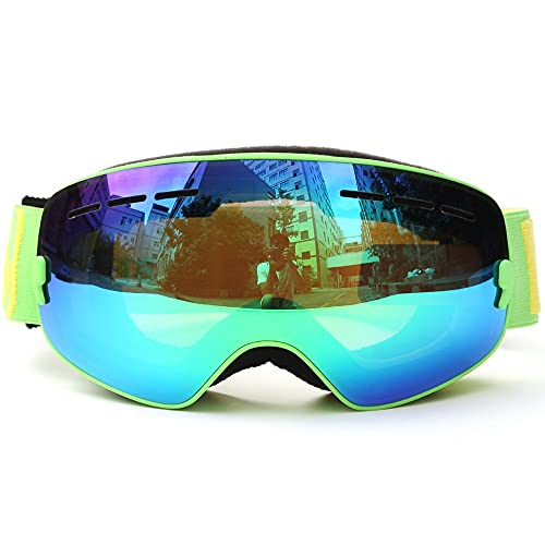 A prueba de viento A prueba de viento Deportes al aire libre, Gafas de esquí Gafas de esquí Protección UV Protección esférica PC Lente Ski Goggles Snowboard Patinaje Gafas Anti-niebla antideslizante C