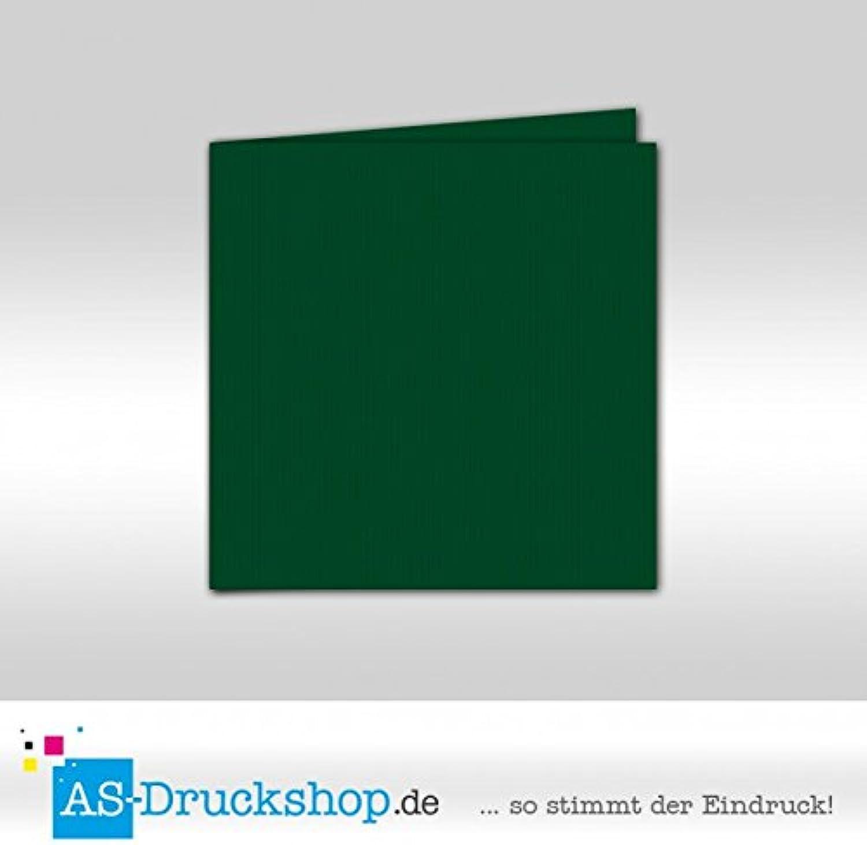 Faltkarte Doppelkarte - Racing Grün 100 Stück Quadratisch 155 155 155 x 155 mm B07951WMB5    Outlet  e086f2