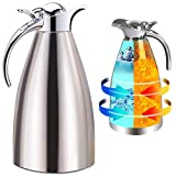 Panesor Thermal Coffee Carafe Insulated 68 Oz/2L, Vacuum Stainless Steel Tea...